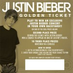 Justin Bieber Golden Ticket