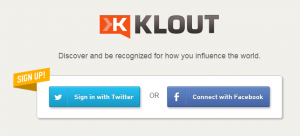 Klout homepage login